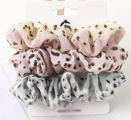 Scrunchie set - Panter vlekjes
