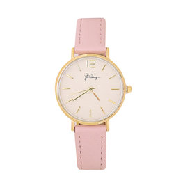 Horloge little time - Roze/Goud