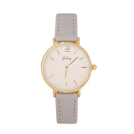 Horloge little time - Grijs/Goud