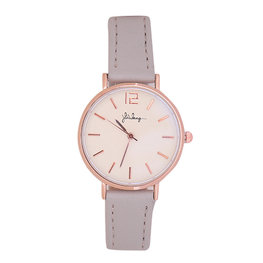 Horloge little time - Grijs/Rose gold