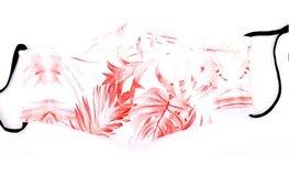 Mondkapje - Pink leaves