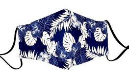 Mondkapje - Blue leaves