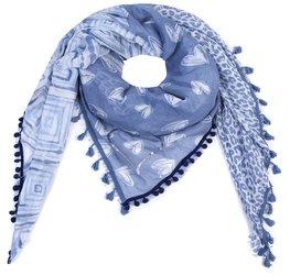 Sjaal hearts - blauw