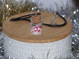 Handmade ketting - Candy cane jar