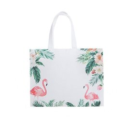 Grote shopper flamingo