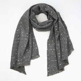 Wintersjaal silver spots - Grey