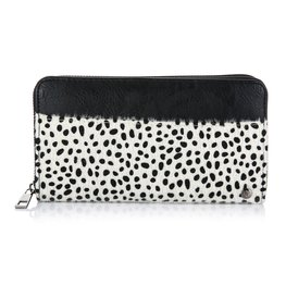Grote portemonnee cheetah - Zwart/wit