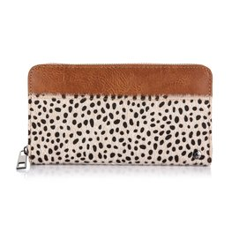 Grote portemonnee cheetah - Bruin