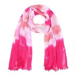 Sjaal tie dye - Fuchia