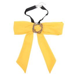 Choker strik sjaal - Geel