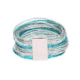 Armband glam - Blauw
