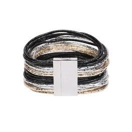 Armband glam - Zwart