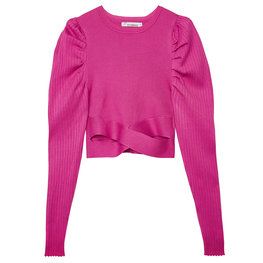Crop top cross - Hard roze (S)