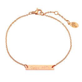 Armband i love you mom - Rose gold