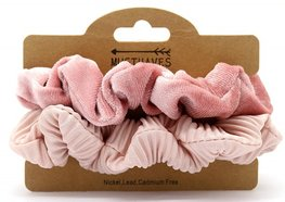 Scrunchie set - Oud roze