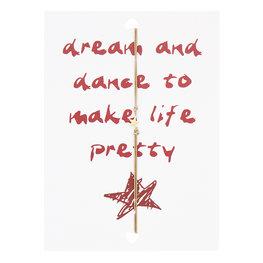 Wenskaart met armband - Dream and dance