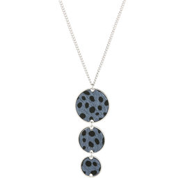 Lange ketting leopard - Blauw