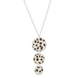 Lange ketting leopard - Wit