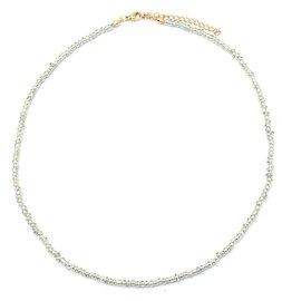 Ketting glass beads - Grijs