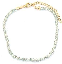 Armband glass beads - Grijs