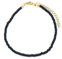 Armband glass beads - Zwart