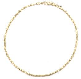 Ketting glass beads - Goud