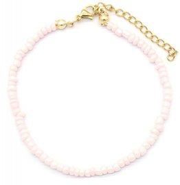 Armband glass beads - Roze