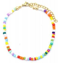 Armband glass beads - Multi