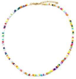 Ketting glass beads - Multi