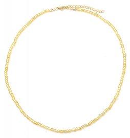 Ketting glass beads - Goud (1)