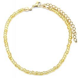 Armband glass beads - Goud (1)
