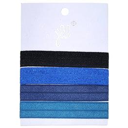 Ibiza elastiekjes - Metalic blauw