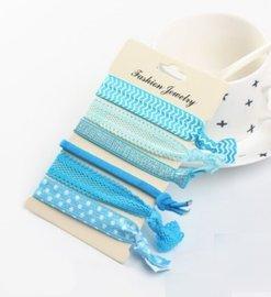 Ibiza elastiekjes - Blauw