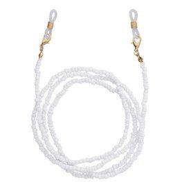 Brillenkoordje beads - Wit