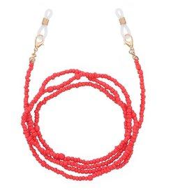 Brillenkoordje beads - Rood