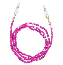 Brillenkoordje beads - Roze