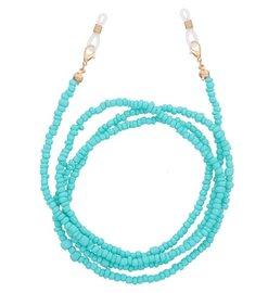 Brillenkoordje beads - Blauwgroen