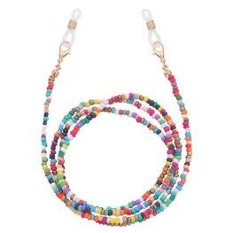 Brillenkoordje beads - Multi zomers