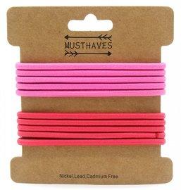 Basic haar elastiekjes - Roze