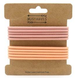 Basic haar elastiekjes - Oud roze/Zalm