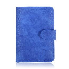 Paspoort hoesje croco - Blauw
