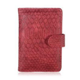 Paspoort hoesje croco - Rood
