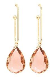 Oorbellen kristal dreams - Goud/Champagne roze