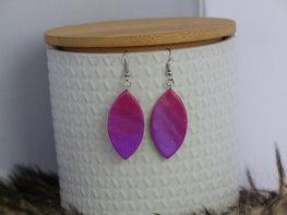Handmade ovalen oorbellen - Shiny ombré