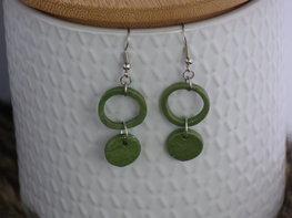 Handmade oorbellen - Designer green