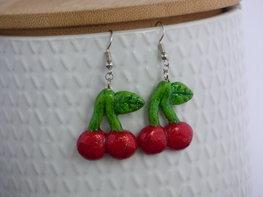 Handmade oorbellen - Cherry's
