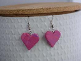 Handmade hartjes oorbellen - Candy shop