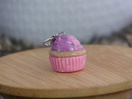 Handmade cupcake bedel - Fluffy pink