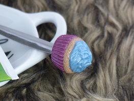 Handmade theelepeltje - Cupcake blue/pink