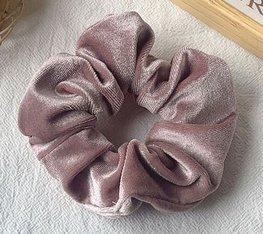 Scrunchie velours - Oud roze